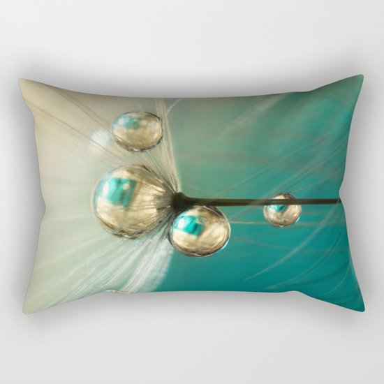 Dandy with Drops of Gold and Jade Rectangular Pillow