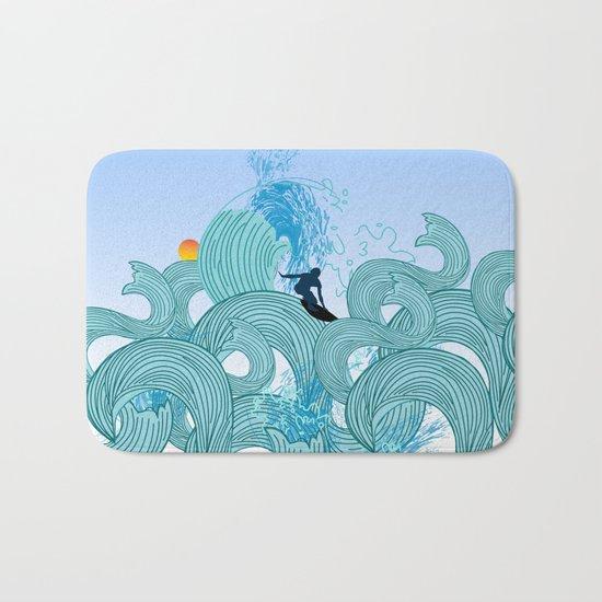 surfing 2 Bath Mat
