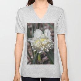 Daffodil in Cream Unisex V-Neck