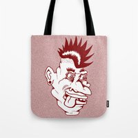 punk Tote Bags featuring Punk by Adam Metzner