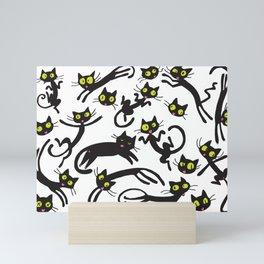 crowd of cats Mini Art Print