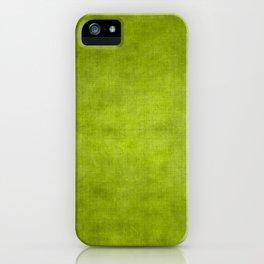 """Summer Fresh Green Garden Burlap Texture"" iPhone Case"