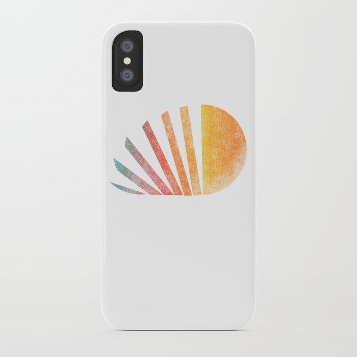 Raising sun (rainbow-ed) iPhone Case