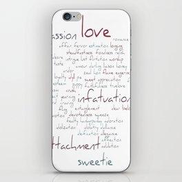 Love Word Cloud iPhone Skin