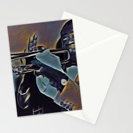 Louis Daniel Armstrong was an American trumpeter, composer, vocalist, and actor who was among the mo Stationery Cards
