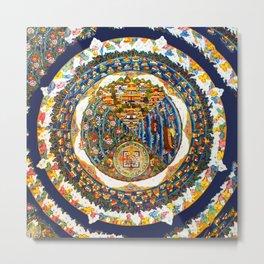 Tibetan Shambala Mandala 33 Metal Print
