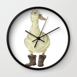 duck in boots  Wall Clock