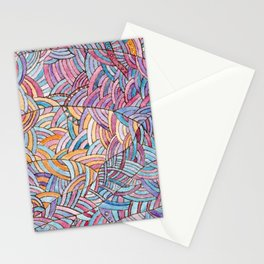 Сloudy sky - Abstract doodle watercolor background Stationery Cards