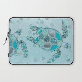 Glamour Aqua Turquoise Turtle Underwater Scenery Laptop Sleeve