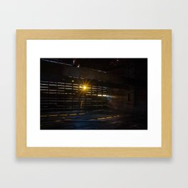 Sunset Through the Slats Framed Art Print