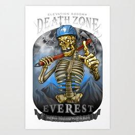 DEATH ZONE: EVEREST Art Print