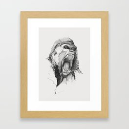 Seven Monkeys – Wrath – Wild Rage Framed Art Print