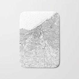 Cleveland White Map Bath Mat
