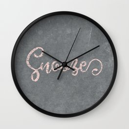 Let's Snooze Wall Clock