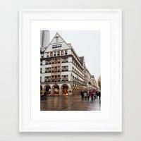 german Framed Art Prints featuring German. by Snow & Sonder