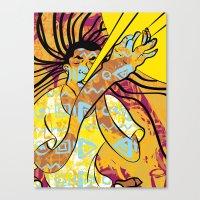 jazz Canvas Prints featuring Jazz by Sanfeliu