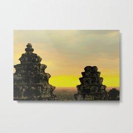 Temple Perch Metal Print