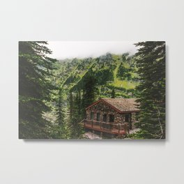 Mountain Chalet Metal Print