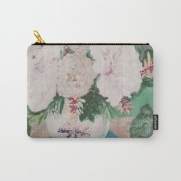 still life, painting, flowers, peony, book, succulents Carry-All Pouch
