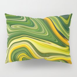 Sunny green marble Pillow Sham