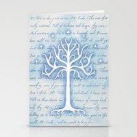 gondor Stationery Cards featuring Tree of Gondor by JadeJonesArt