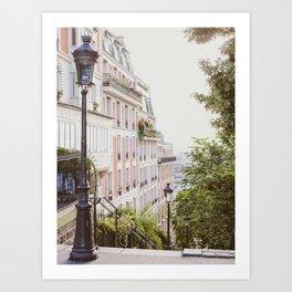 Montmartre Stairs - Paris Travel Photography Art Print
