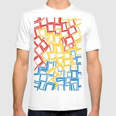 rectangles in primary colours Mens Fitted Tee MEDIUM White