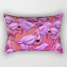 Flamingos Sunrise Rectangular Pillow