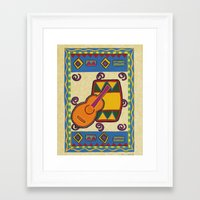 drum Framed Art Prints featuring Drum by Karen Cabral Sullivan Illustration & Des