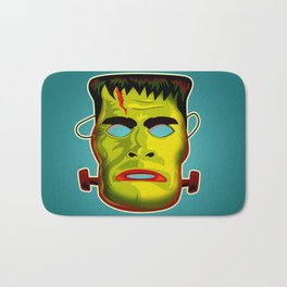 Frankenstein Monster Mask Bath Mat