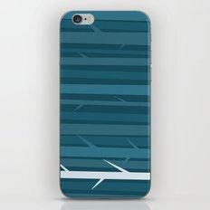 Blue Wood iPhone & iPod Skin