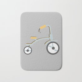Gray Adventure Series Multicolored  Tricycle Bath Mat