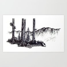Ink Pen Art Print