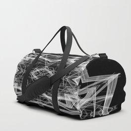Mandala 3354b in Black and White Duffle Bag