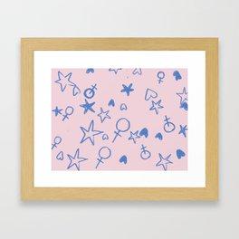 feminist pattern Framed Art Print