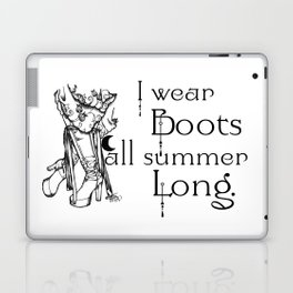 I wear Boots all summer Long Laptop & iPad Skin