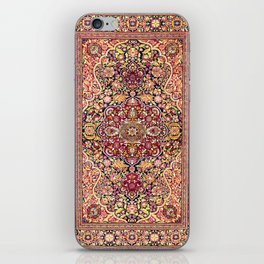 Esfahan Antique Floral Persian Rug iPhone Skin