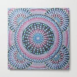 Pink and Blue Mandala Metal Print