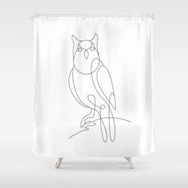 the eagle owl Shower Curtain