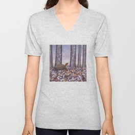 eastern box turtle in the forest Unisex V-Neck