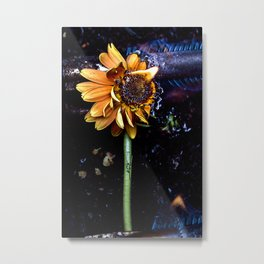 Flamin' Flower Metal Print