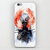 tokyo ghoul iPhone & iPod Skins featuring Tokyo Ghoul - Kaneki Ken by Kayla Phan