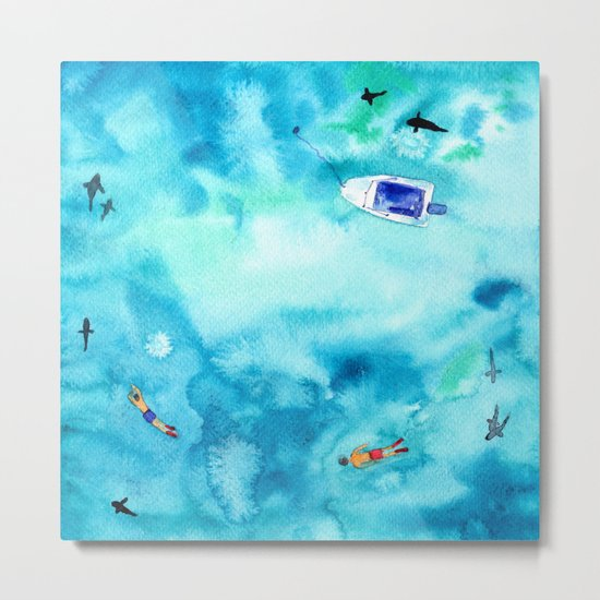 One summer day    watercolor Metal Print