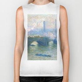 Claude Monet's Waterloo Bridge Biker Tank