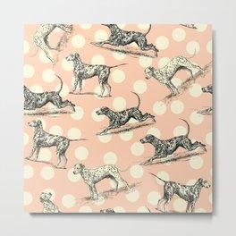 Dalmatian Dogs Pattern Metal Print