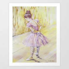 Olivia {ballet dancer} Art Print