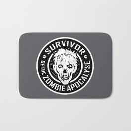 Survivor of the Zombie Apocalypse Bath Mat