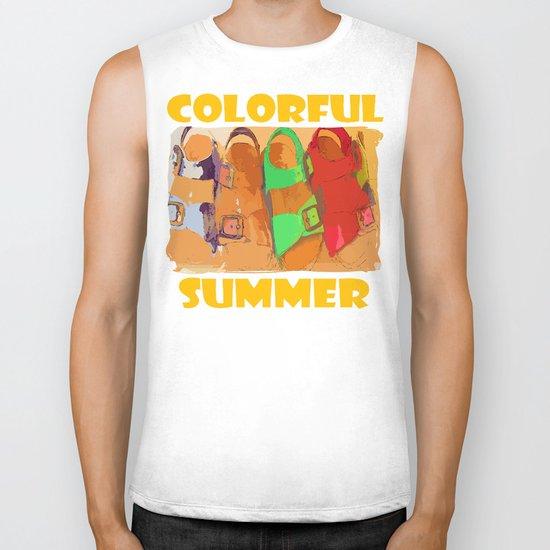 Colorful Summer Biker Tank