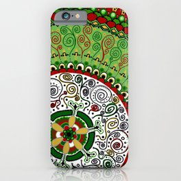 Christmas Mandala iPhone Case