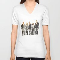 how i met your mother V-neck T-shirts featuring How I Met Your Mother by Evelyn Gonzalez